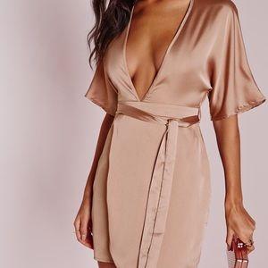 Dresses & Skirts - Missguided pink kimono dress